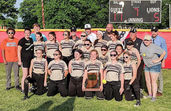 Rob Hunt   The Herald Bulletin<br /> The Daleville Broncos are the 2019 Sectional 55 1A champions.