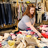 Don Knight | The Herald Bulletin<br /> Amber Burns searches for childrens clothes at a barn sale on Indiana 38 east of Pendleton. The Highway 38 Sale is in its 15th year.
