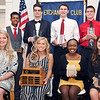 John P. Cleary | The Herald Bulletin <br /> The eight nominees for the Red Haven Memorial Award are from L to R, front row: Madison Rae Tincher, Elwood HS; Megan Green, Pendleton Hts. HS, winner of the Red Haven Award; Sharon Kulali, Anderson HS; and Kara Lutz, Lapel HS. Back row: Negesse Kishpaugh, Liberty Christian HS; Avery Paddock, Alexandria HS; William Whatley, Frankton HS; and Michael Taylor, Anderson Prep Academy.<br /> <br /> The Red Haven Memorial Award luncheon.