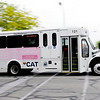 Don Knight   The Herald Bulletin<br /> CATS buses leave the terminal on Tuesday. Anderson is one of 17 markets in Indiana for advertising company Mesmerize.