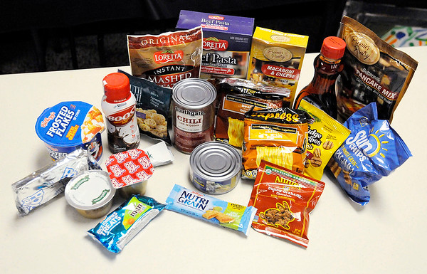 Don Knight | The Herald Bulletin<br /> Food items handed out to students in need at 10th Street Elementary. Through a grant the school receives 250 bags of food a week for distribution to students.