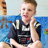 John P. Cleary | The Herald Bulletin <br /> Children at Gateway daycare talk about their mothers for a Mother's Day feature. Here Noah Bartlett, 5, talks about his mother.