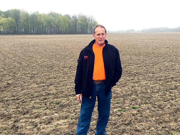 Local farmer Brian Bays expressed frustration with constant spring rains that is delaying the start of planting. Fields will take at least seven days to dry out after the rains stop falling.