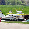 John P. Cleary | The Herald Bulletin <br /> Early Sunday morning plane crash at the Anderson Municipal Airport.