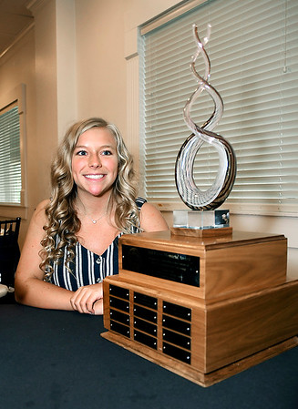 John P. Cleary | The Herald Bulletin <br /> Megan Green, of Pendleton Heights High School, is the 2019 winner of the Red Haven Memorial Award presented by the Anderson Noon Exchange Club.