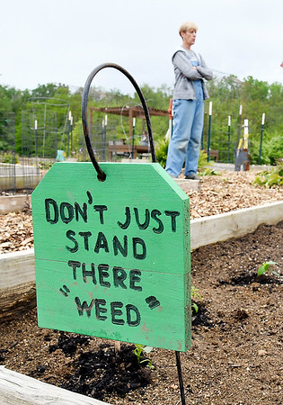 John P. Cleary   The Herald Bulletin <br /> Growing Anderson non-profit community garden at 1720 E. 22nd Street.