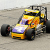 Don Knight | The Herald Bulletin<br /> Kody Swanson takes the pole position with a time of 45.005-seconds (79.99 miles per hour) during Little 500 qualifying at the Anderson Speedway on Thursday.