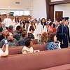 John P. Cleary | The Herald Bulletin <br /> The 12 members of the 2019 graduating class of Indiana Christian Academy<br /> proceed into the sanctuary of Grace Baptist Church for their graduation ceremony.