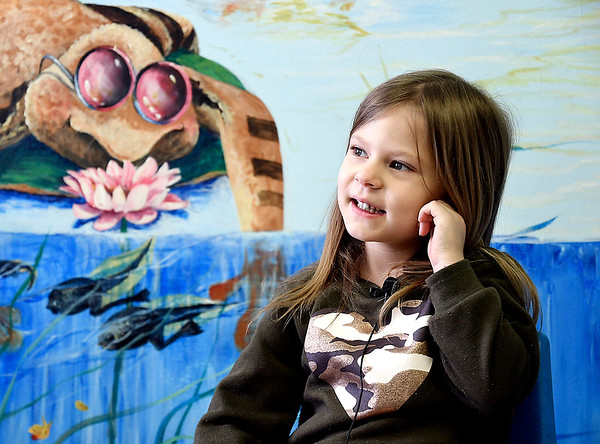 John P. Cleary | The Herald Bulletin <br /> Children at Gateway daycare talk about their mothers for a Mother's Day feature. Here Devann Bruce, 5, talks about her mother.