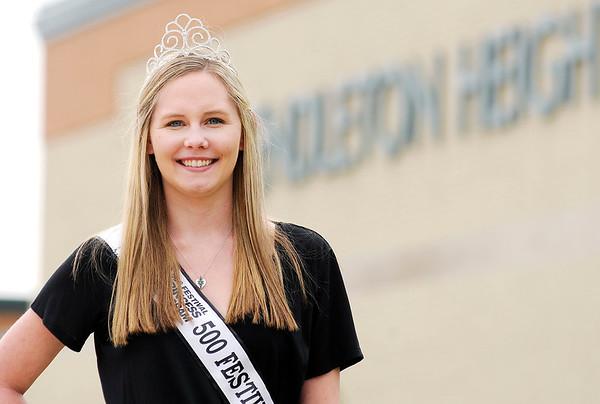 Don Knight | The Herald Bulletin<br /> 500 festival princess Heidi Przytulski.
