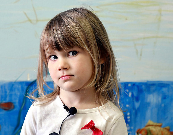 John P. Cleary | The Herald Bulletin <br /> Children at Gateway daycare talk about their mothers for a Mother's Day feature. Here Juliet Blazucki, 3, talks about her mother.