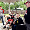 Since the weather has gotten nicer the King family, Gina, sons Cooper, 12,   and Connor, 14, and Phil,  has utilized their covered patio and deck more during this stay-at-home order to grill out and enjoy the warmer days while staying at home.