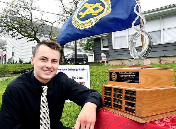 Cade Vernetti of Alexandria-Monroe High School was named the 2020 Red Haven Memorial Award winner presented by the Anderson Noon Exchange Club.
