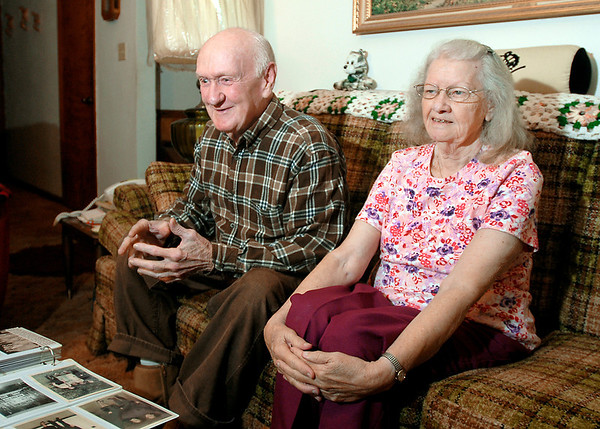 Charles and Martha Murdock, long time Salvation Army bell ringers.