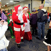Several families were waiting in line to see Santa as he arrived at Mounds Mall on Saturday. Santa will be available at Mounds Mall throughout the season up until Christmas.