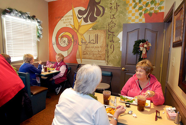 Diners enjoy their lunch at Gaither Family Resource Cafe.