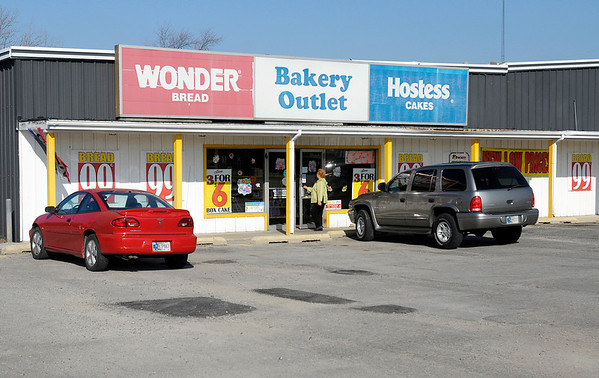 Wonder Bread Hostess Cakes Bakery Outlet on 53rd Street in Anderson was busy on Friday. Unable to resolve labor issues, Hostess announced on Friday they would liquidate their business.