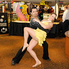 Andre Figueroa and Elise Fenwick dance as they represent Five Star Dance Studio during the Get Linked Expo at Hoosier Park on Thursday. Five Star Dance Studio has locations in Carmel, Fishers and Greenwood.
