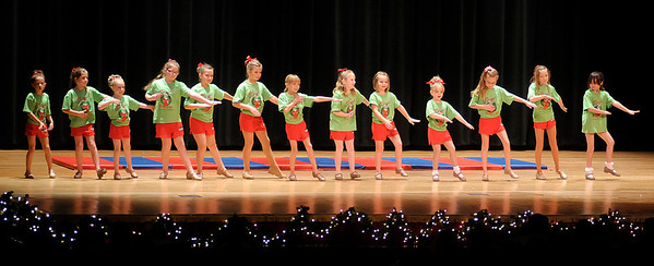 """Dancers from Bonnie and Sheri's Dance and Gymnastics perform """"Merry Grinchmas"""" as part of the """"Festival of Trees"""" at the Paramount on Saturday."""