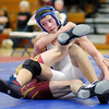At 126 pounds Elwood's Dakota Cole wrestles Alexandria's Jarrett Semon during the Elwood Super Six on Saturday.