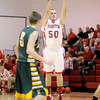 Frankton's Logan Weins shoots from three point range as the Eagles hosted the Eastern Cometson Wednesday.