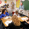 Doug Beisley teaches his students a lesson on George Washington at Liberty Christian on Thursday.