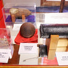 Projectiles are on display as part of the military exhibit at the Madison County Historical Society.