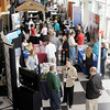 Vendors line the lower level at Hoosier Park during the Get Linked Expo at Hoosier Park on Thursday.