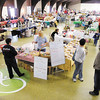 Shoppers check out the 40 local vendors at the Rangeline Community Center for the Madison County Humane Society's 34th annual Christmas and Hobby Show on Saturday.