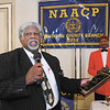 Merle Summerville gives his remarks after receiving the B. Harry Beckham Award during the Madison County Branch of the NAACP's B. Harry Beckham Freedom Fund Banquet on Saturday.