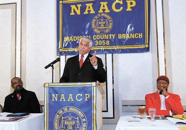 Hilary Shelton, NAACP's Senior Vice President for Advocacy and Policy and Director to the NAACP's Washington Bureau, was the featured speaker during the B. Harry Beckham Freedom Fund Banquet on Saturday.
