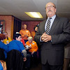 Democratic gubernatorial candidate John Gregg urged locals to get out the vote as he visited Lucy's Family Diner Wednesday morning with his running mate Vi Simpson and Democrat Senate candidate Joe Donnelly.