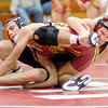 At 145 pounds Alexandria's Luke Blanton wrestles Blackford's Lane Christman during the Elwood Super Six on Saturday.