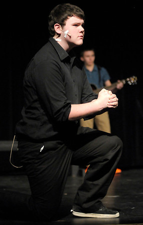 """Dakota Jones portrays several characters in Anderson High School's production of """"Spoon River Anthology."""""""