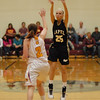 Kaitlin Dobbins takes a three point shot for the Lapel Bulldogs during their game against Alexandria.