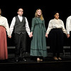 "From left, Sydney Brobst, Zach Pruett, Sammy Innis, Eryn Newberry and Alex Shaffer perform in Anderson High School's production of ""Spoon River Anthology."""