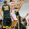 Frankton's Aaron Korn drives to the basket as the Eagles hosted the Eastern Comets on Wednesday.