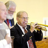 Richard Herche plays Taps during the Veteran's Day program at Eastside Elementary on Monday.