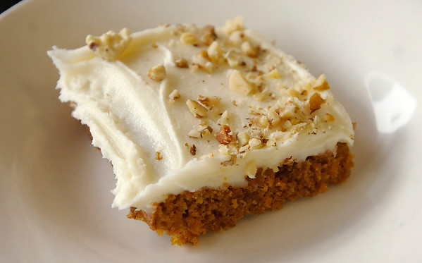 A pumpkin bar is one of many pumpkin treats available at Crave Dessert Cafe in Edgewood.
