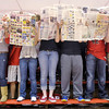 Frankton students show their lack of interest in Eastern's starting line up by pretending to read the newspaper as the Eagles hosted the Comets on Wednesday.