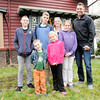 Don Knight | The Herald Bulletin<br /> Chris and Marisa Mamazza and their children enjoy living near downtown. Front row from left are Christopher and Makenna. Back from left  are Camden, Christian, Marisa, Mya and Chris.