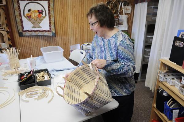 Don Knight   The Herald Bulletin<br /> Linda Swanger opened Forever Baskets in Yorktown where she teaches basket weaving and sells basket weaving supplies.