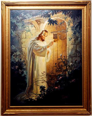 "John P. Cleary | The Herald Bulletin  <br /> This is Warner Sallman's ""Christ at heart's Door."""