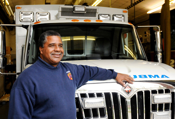 Don Knight | The Herald Bulletin<br /> Former fire chief Phil Rogers retired from the Anderson Fire Department on Thursday.