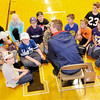 Don Knight | The Herald Bulletin<br /> Jon Ross Richardson talks to students about the Pillars of Character with students at Lapel Elementary on Friday.