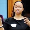 Don Knight | The Herald Bulletin<br /> Christina Wright Fields from Indiana University leads a diversity conference at the Tanglewood Center on Thursday. The conference was presented in cooperation with Indiana and Anderson Black Expo and the ACS Diversity Council and co-sponsored with the Anderson Education Foundation and the AFT.