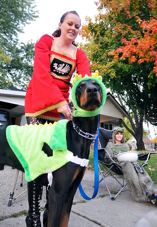 John P. Cleary |  The Herald Bulletin<br /> Trick-or-treating in North Anderson.