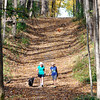 John P. Cleary |  The Herald Bulletin<br /> Hikers take to the trails through Mounds State Park on this warm November day where the temperatures were well above normal, pushing the upper 70's. Rain and cooler temps are in the forecast.