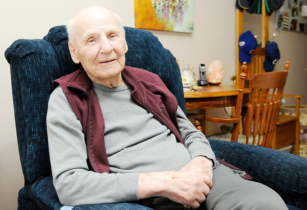 Don Knight | The Herald Bulletin<br /> Air Force veteran Andrew Sandala recently celebrated his 90th birthday. He played baseball, basketball and football while stationed at Erding Germany.
