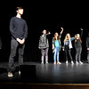"John P. Cleary |  The Herald Bulletin<br /> Anderson High School Theatre Arts students rehearse this lip-sync rap titled ""The New 10 Commandments"" for their upcoming Improv Show."